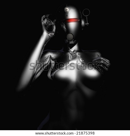 Halion Science Fiction Character - stock photo