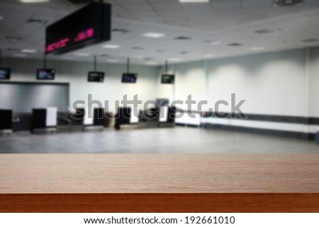 hall and desk  - stock photo