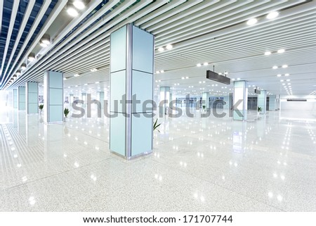 Hall of business building - stock photo