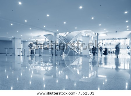 hall of business center - stock photo