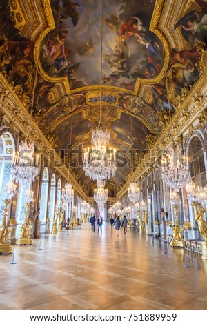 Hall Mirrors Palace Versailles France September Stock Photo Royalty