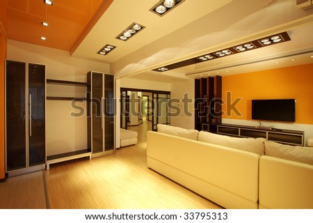 Hall of Modern inhabited apartment