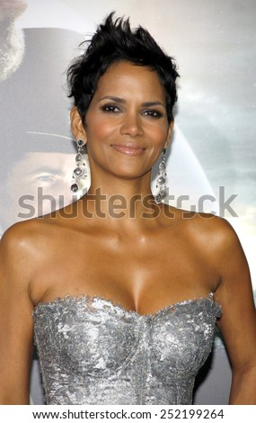 "Halle Berry at the Los Angeles premiere of ""Cloud Atlas"" held at the Grauman's Chinese Theatre in Los Angeles, United States on October 24, 2012. - stock photo"