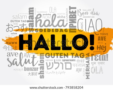 how to say hellow in german