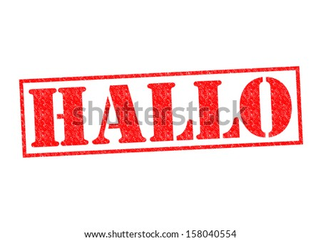 HALLO Rubber Stamp over a white background.