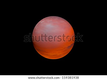 Halloween backdrop element a fiery sphere globe or planet background for climate change with global warming