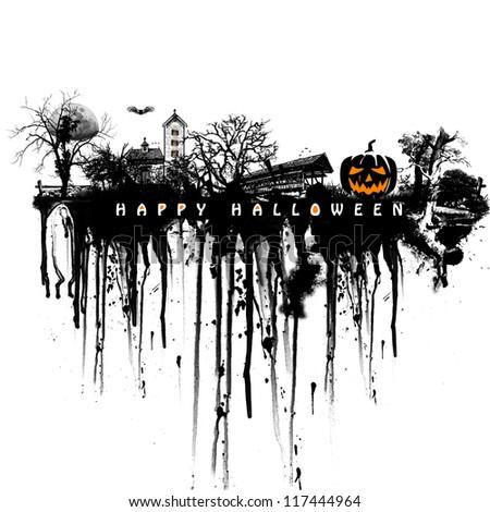 Halloween background - stock photo