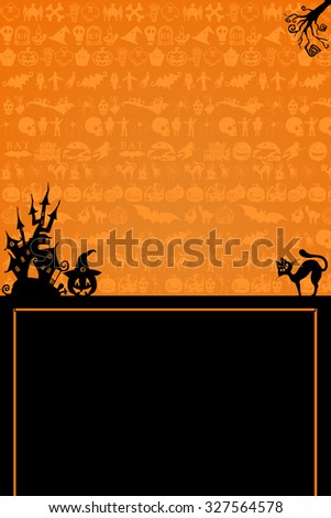 Halloween Background. Happy Halloween background and party poster.