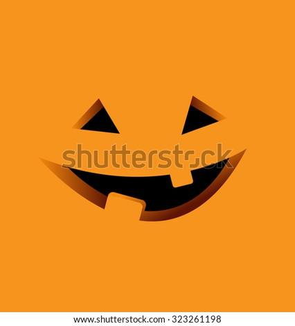 Halloween Background with Pumpkin Illustration - stock photo