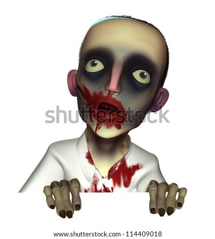 Halloween bloody zombie - stock photo