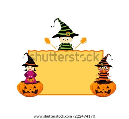 halloween board - stock photo