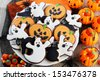 Halloween cookies - stock photo