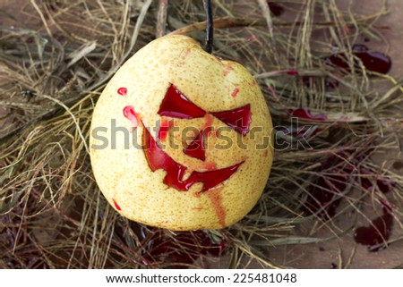 halloween day. chinese pear  - stock photo