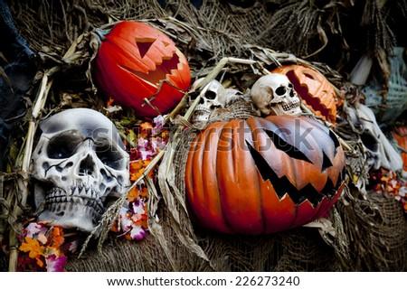 Halloween decorations - stock photo