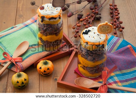 Halloween dessert - stock photo
