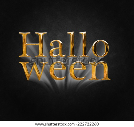 Halloween Greetings lettering - stock photo