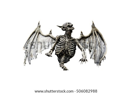 Halloween horror creature isolated on white