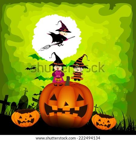 halloween kids party - stock photo