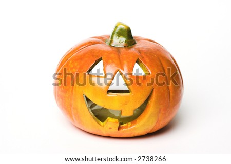 Halloween lamp on white background