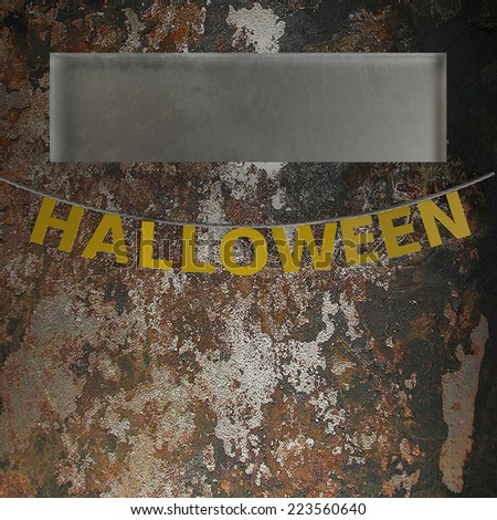 Halloween letters. High resolution. 3D render - stock photo