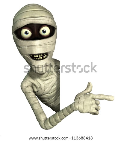 Halloween mummy - stock photo