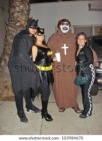 Halloween Party-goers at the 2009 West Hollywood Halloween Carnival, Various Locations, West Hollywood, CA. 10-31-09