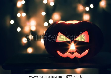 Halloween photo of pumpkin - stock photo
