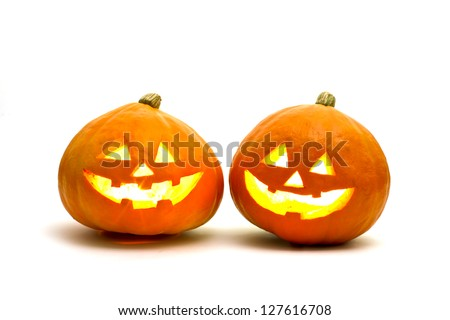Halloween, pumpkin - stock photo