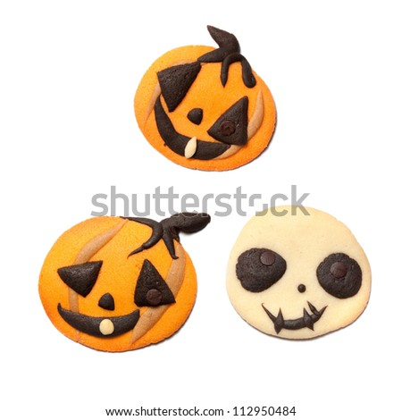 Halloween pumpkin cookie set