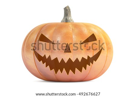 Halloween Pumpkin, 3D rendering  isolated on white background