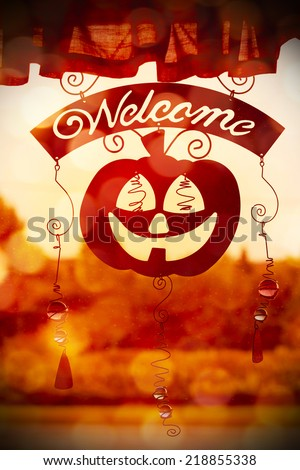 Halloween pumpkin decoration - stock photo