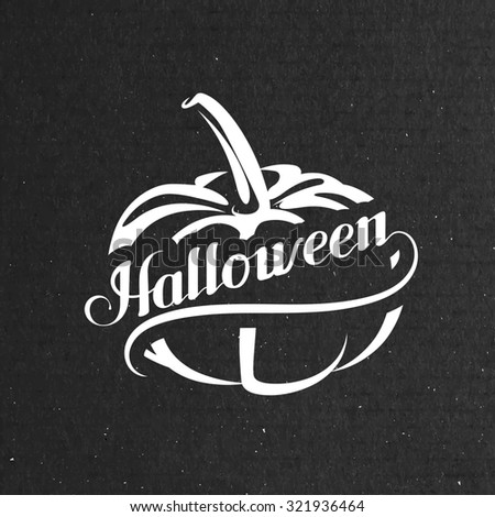 Halloween Pumpkin. Holiday Illustration. Lettering Composition  - stock photo
