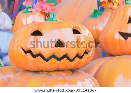 halloween pumpkin in fun park