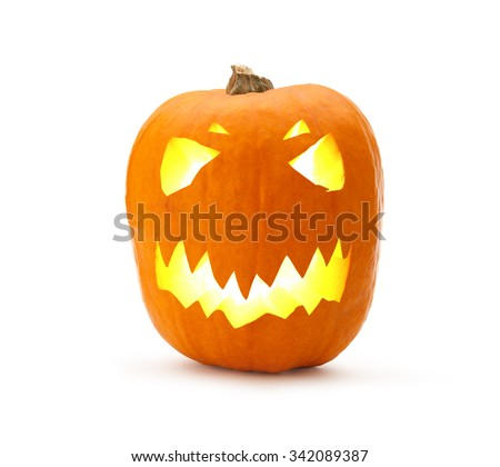 Halloween pumpkin isolated on the white background
