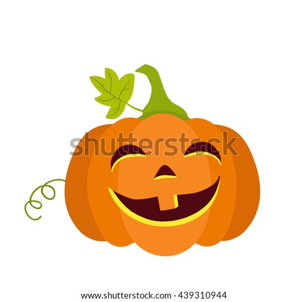 Halloween pumpkin isolated on white background.Raster copy.