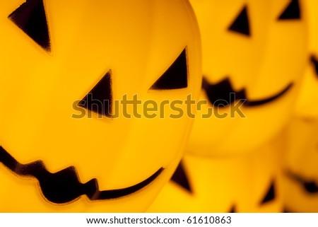 Halloween Pumpkins Decoration - stock photo