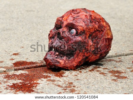 Halloween Skull. - stock photo