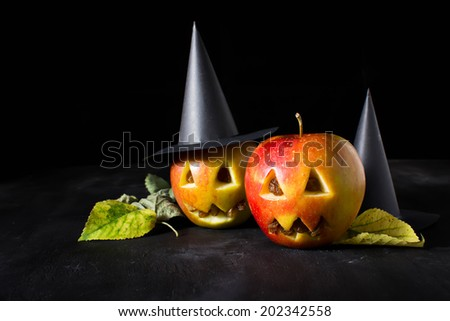 Halloween  sweets for children - stock photo