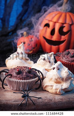 Halloween sweets for Halloween party - stock photo