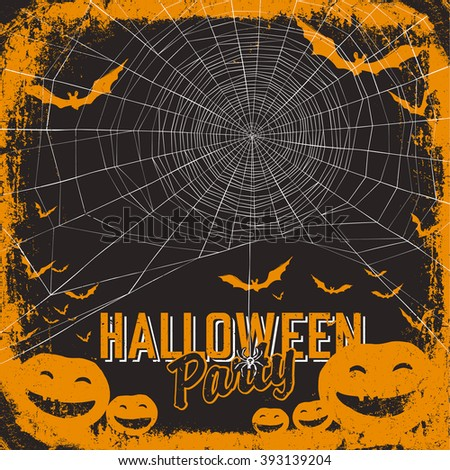 Halloween themed party flyer. Raster version - stock photo