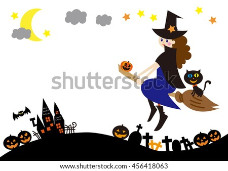 halloween,witch,fly in the sky