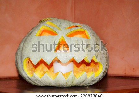 Halloween worst holiday - where children and adults are transformed into monsters and witches. - stock photo