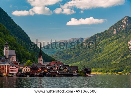 Hallstatt Austria lake and mountains