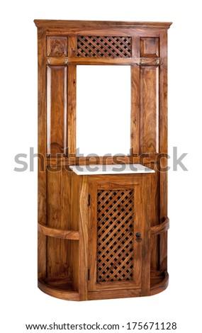 Hallway furniture isolated on white background - stock photo