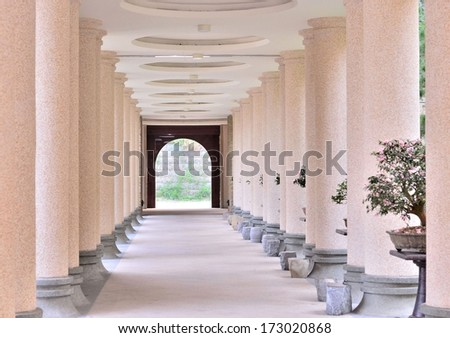 Hallway in the park - stock photo