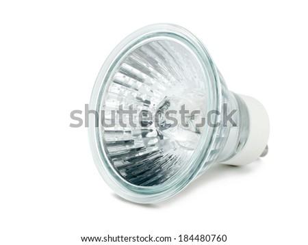 Halogen bulb isolated on white background - stock photo