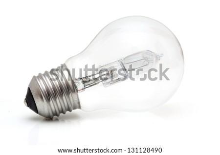 Halogen eco light bulb - stock photo