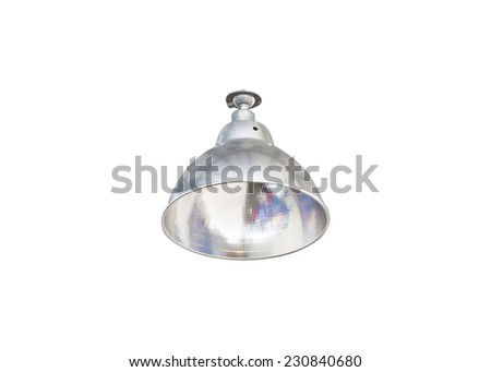 Halogen lamps in isolate on white. - stock photo