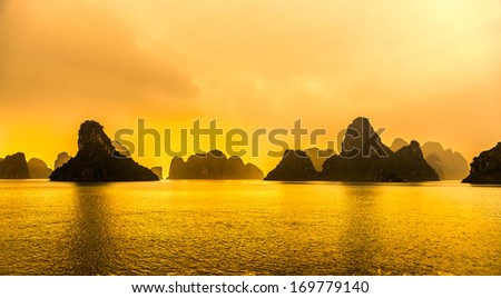 Halong Bay, Vietnam. - stock photo