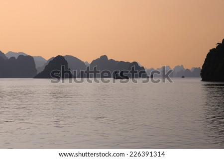 Halong Bay,Vietnam.Designated by UNESCO as the World Natural Heritage Site